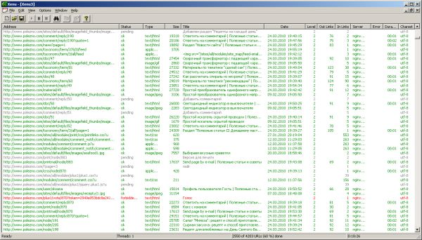 "Xenu's Link Sleuth: программа проверки веб-сайта на ""битые"" ссылки"